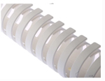 Canal de cablu flexibil din polipropilena alb, latime 30mm, diametru 30mm, lungime 500mm