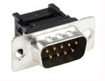 Conector D-sub, tata, montare pe cablu, numar contacte 9, pas de 2.77mm, terminatie IDC